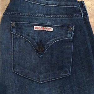 Hudson Distressed Classic Pocket Jeans